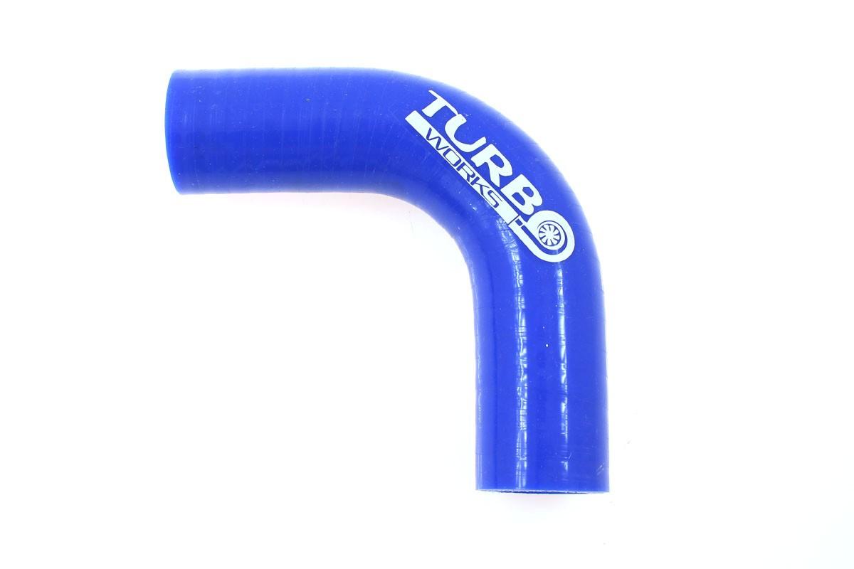 Kolanko 90st TurboWorks Blue 28mm - GRUBYGARAGE - Sklep Tuningowy